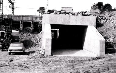 Construction work for duplicating the Como Railway Bridge c 1970_MF004245_Picture Sutherland Shire (1)