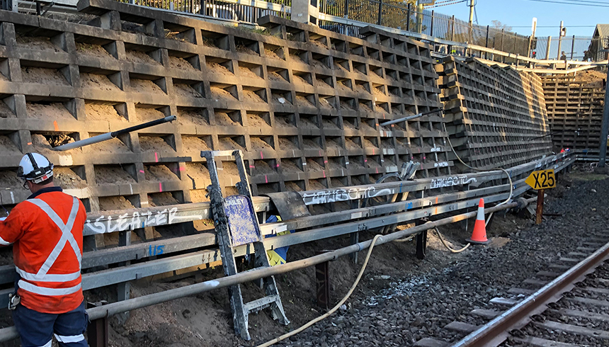 ErskinevilleDegnan Crib Wall Stabilisation works