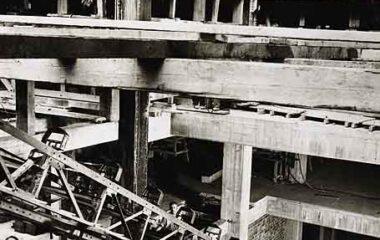 Wynyard Station - Erecting Escalators 1930