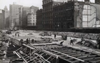 Wynyard Station Pouring Roof Slab c.1930